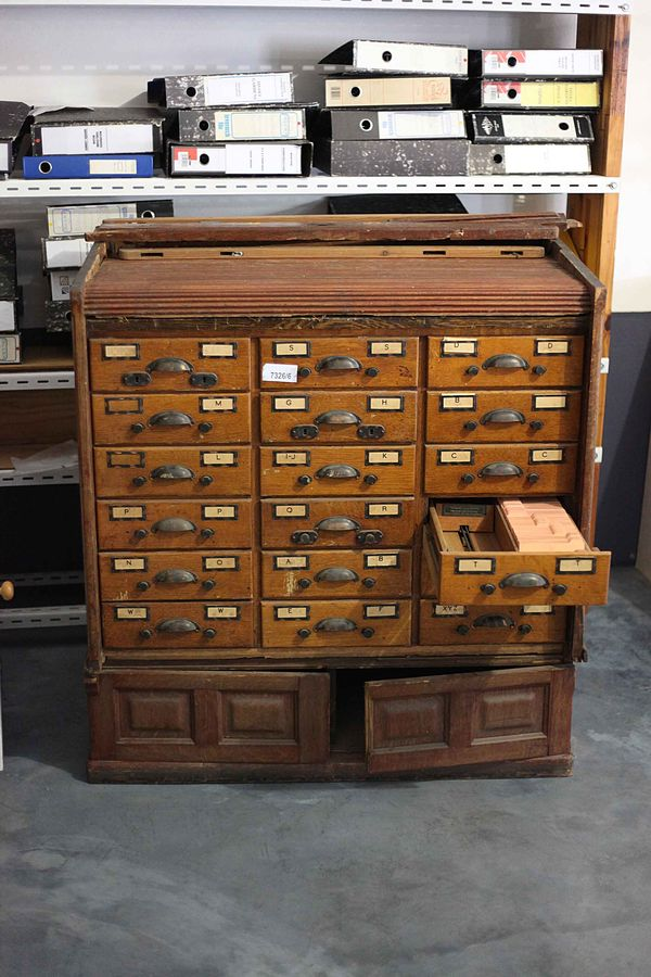 Hewn And Hammered Globe Library Card Catalog Refinishing Assistance