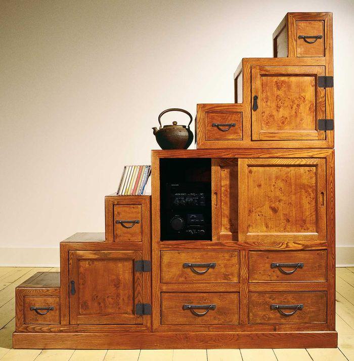asian antiques step tansu. Black Bedroom Furniture Sets. Home Design Ideas