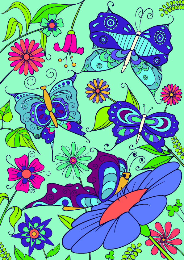 09-Learn-How-to-Draw-a-Butterfly-on-a-Flower-Cartoon-Scene-Step-by-Step-Tutorial
